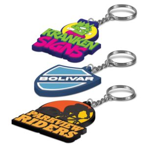 107109 – PVC Key Ring Small – One Side Moulded