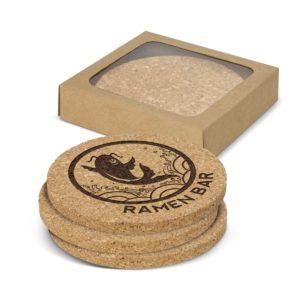 113033 – Oakridge Cork Coaster Round Set of 4