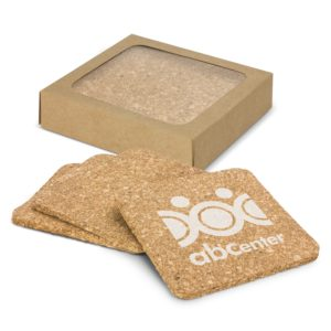113034 – Oakridge Cork Coaster Square Set of 4