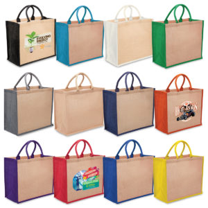 1184 – Eco Jute Tote with wide gusset