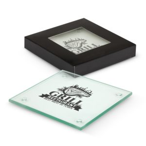 116394 – Venice Glass Coaster Set of 2 – Square