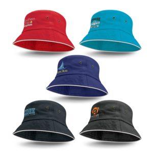 115740 – Bondi Bucket Hat – White Sandwich Trim