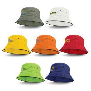115493 – Bondi Bucket Hat – Black Sandwich Trim