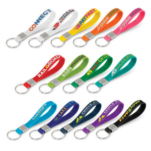 118672 – Silicone Key Ring – Embossed
