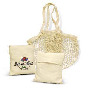 118944 – Cotton Mesh Foldaway Tote Bag