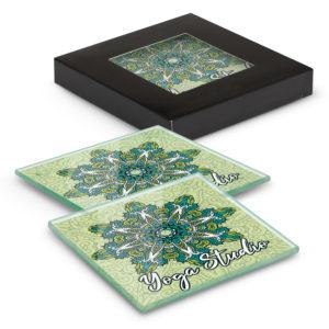 120164 – Venice Glass Coaster Set of 2 Square – Full Colour
